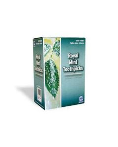 Royal Paper RM112S / TMT12 Individually Cello Wrapped Mint Toothpicks