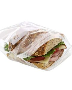 Royal Paper ZBS66 Zip-It Double Zipper Sandwich Plastic Bags