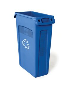 Rubbermaid FG354007BLUE Slim Jim 23 Gal Recycling Waste Container