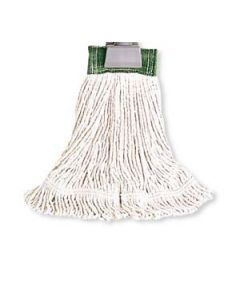 "Rubbermaid Large Super Stitch Cotton Loop Mop w/1"" Headband, White"