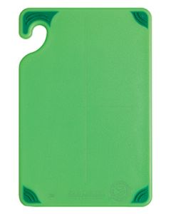 "San Jamar CBG6938GN Saf-T-Grip Cutting Board, 6"" x 9"" x 3/8"", Green"