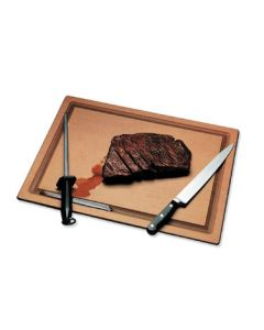 "San Jamar TC121812GV Tuff-Cut Cutting Board, 12"" x 18"" x 1/2"", Grooved, Resin"