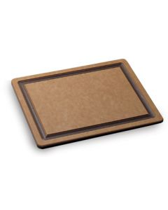"San Jamar TC182412GV Tuff-Cut Cutting Board, 18"" x 24"" x 1/2"", Grooved, Resin"