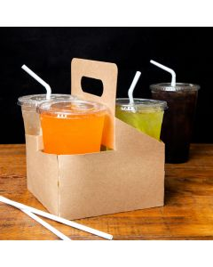 Sabert 29500 Four Cup Drink Carrier with Handle