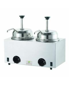 Server 81230 Twin Topping Warmer w/ Pumps - JARS NOT INCLUDED