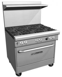 "Southbend 4365D 36"" Ultimate Gas Restaurant Range with 5 Burners"