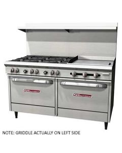 "Southbend S60DD-2GL S-Series 60"" Gas Restaurant Range w-Griddle"