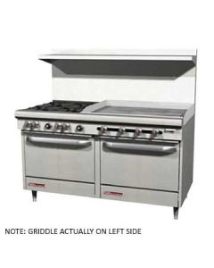 "Southbend S60DD-3GL S-Series 60"" Gas Restaurant Range w-Griddle"