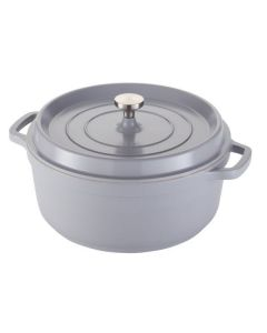 Spring USA 8658-9/28 7.2 Qt. Ironlite Casserole Dish With Cover - Gray