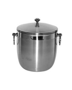 Service Ideas IB3BS 3 L Brushed S/S Ice Bucket w/ Shiny Band