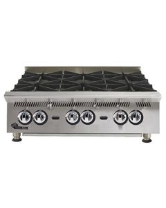 "Star 36"" Ultra-Max Gas Hot Plate, 6 Burners"