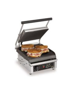 """Star GX10IG Grill Express 10"""" x 10"""" Grooved Iron Panini Grill"""