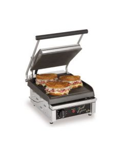 "Star GX10IS Grill Express 10"" x 10"" Smooth Iron Panini Grill"