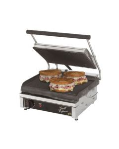 """Star GX14IG Grill Express 14"""" x 10"""" Grooved Iron Panini Grill"""