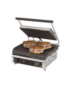 "Star GX14IS Grill Express 14"" x 10"" Smooth Iron Panini Grill"