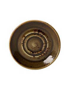 "Steelite 11320158 Craft 5-3/4"" Brown Double Well Saucer"