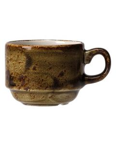 Steelite 11320188 Craft 10 oz Brown Stackable Slimline Cup