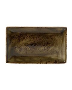 "Steelite 11320550 Craft 10-5/8"" x 6-1/2"" Brown Rectangular Platter"