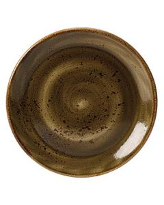 """Steelite 11320567 Craft 8"""" Brown Coupe Plate"""