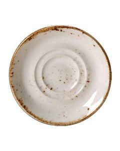 "Steelite 11550165 Craft White 4-5/8"" Double well Saucer"