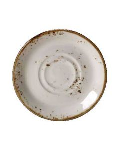 "Steelite 11550225 Craft White 6-1/2"" Double Well Saucer"