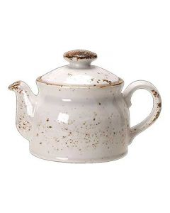 Steelite 11550367 Craft White 15 oz Club Teapot with Lid