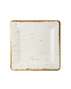 "Steelite 68A540EL787 Craft White 7"" Melamine Square Plate"
