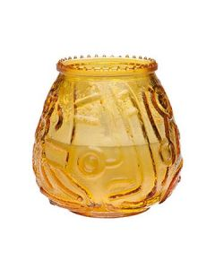 Sterno 40118 Euro-Venetian Amber Glass Candle - Wax-Filled