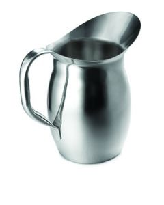 Tablecraft 202 2-1/8 Qt Bell Water Pitcher-Mirror Stainless Steel