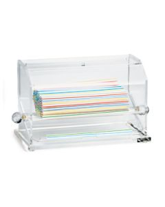 """Tablecraft 227 Acrylic Straw Dispenser, holds straws up to 10"""" length"""