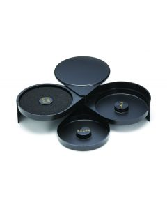 Tablecraft 666 Black Plastic Glass Rimmer With Swing-Out Trays