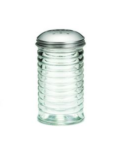 Tablecraft BH8800 Beehive 12 oz Glass Cheese Shaker with S/S Top