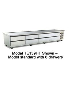 "Traulsen TE110HT 110"" 6-Drawer Refrigerated Equipment Stand"
