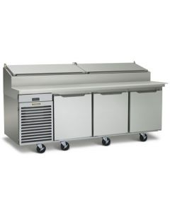 """Traulsen TS090HR Three-Section 90"""" Remote Refrigerated Prep Table"""