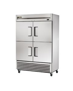 """True T-49-4-HC 54"""" 2-Section Stainless Steel Reach-In Refrigerator"""