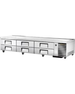 "True TRCB-110 110"" Refrigerated Chef Base - 6 drawers"