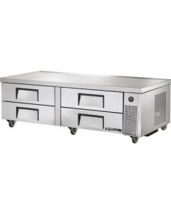 "True TRCB-72 72-3/8""L Refrigerated Chef Base - 4 drawers"