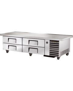 "True TRCB-79-86 86-1/4"" Refrigerated Chef Base - 4 drawers"