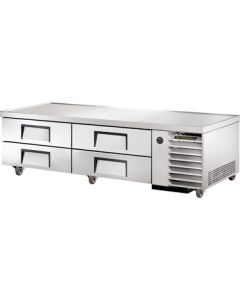 "True TRCB-79 79-1/4""L Refrigerated Chef Base - 4 drawers"