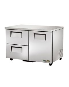 """True TUC-48D-2-HC 49"""" Two Drawer 1-Section Undercounter Refrigerator"""