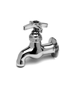 """T & S Brass Big-Flo Kettle & Pot Sink Faucet, wall mounted, 24"""" double joint swing nozzle"""