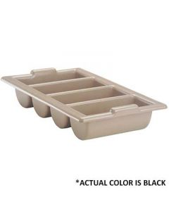 Vollrath 1375-06 Black Four-Compartment Cutlery Box