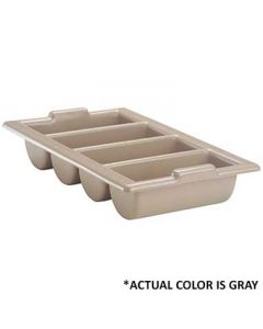 Vollrath 1375-31 Gray Four-Compartment Cutlery Box