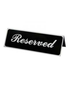 """Vollrath 4135 3"""" x 9"""" Tabletop 'Reserved' Tent Sign"""