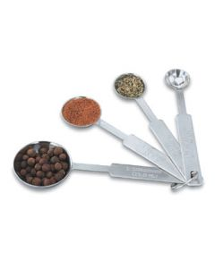 Vollrath 47118 4 Piece Measuring Spoon Set English & Metric