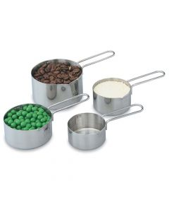 Vollrath 47119 Four-Piece Stainless Steel Measuring Cup Set