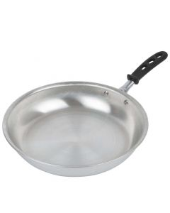 Vollrath 67912 12-Inch Wear-Ever Aluminum Fry Pan With Natural Finish And Trivent Silicone Handle