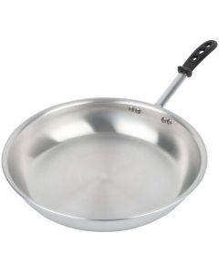Vollrath 67914 14-Inch Wear-Ever Aluminum Fry Pan With Natural Finish And Trivent Silicone Handle