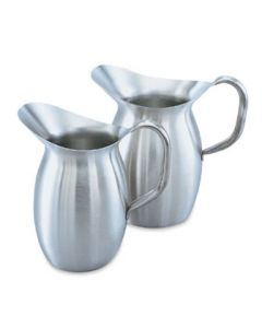 Vollrath 82020 2 1/8 Quart Bell Shaped Stainless Water Pitcher
