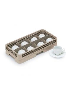 Vollrath HR1B1BBB Traex Half-Size 8 Compartment Glass Rack With Four Extenders